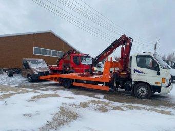 Эвакуатор Hyundai hd78 с КМУ