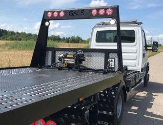 Сдвижная гидравлическая платформа на Iveco Dayli